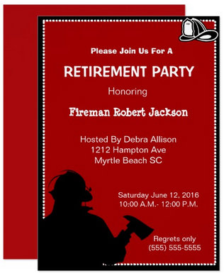 Retirement Invitations and Gifts