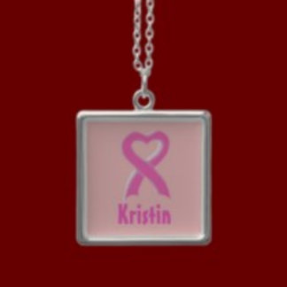 Breast Cancer Awareness Charm Necklaces