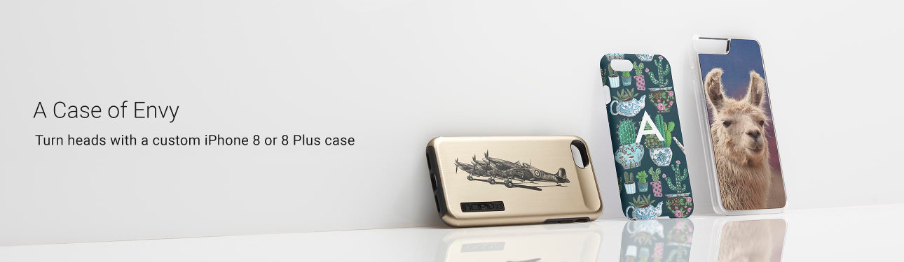A Case of Envy - Turn heads with custom iPhone 8 or 8 Plus cases