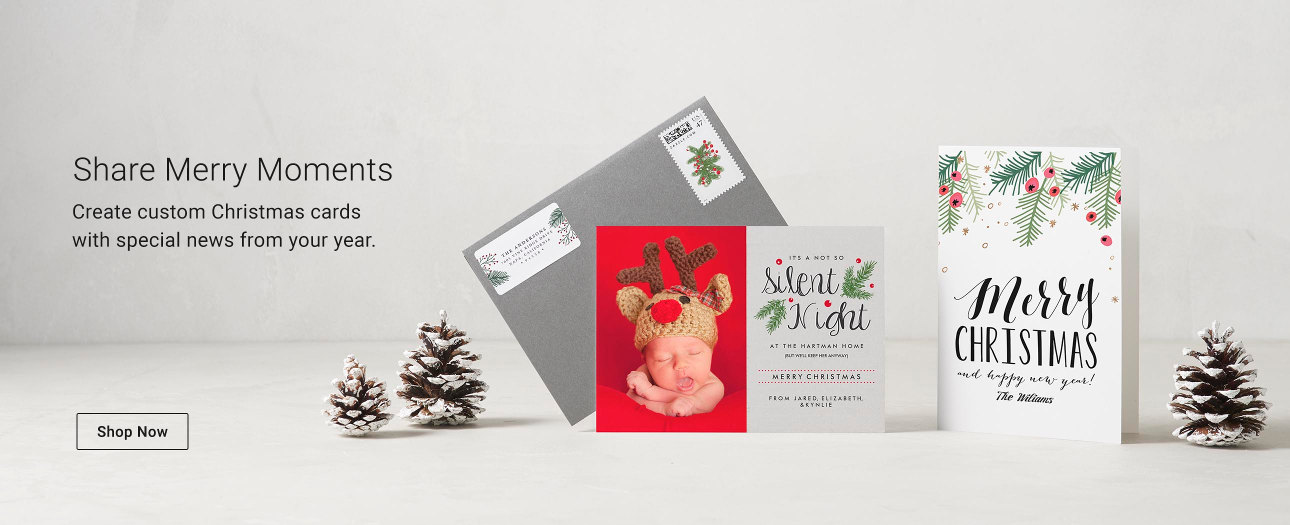 Personalised Christmas Cards from Zazzle