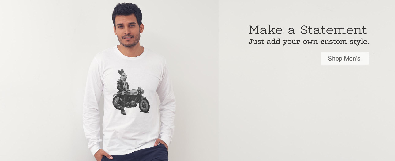 Make a Statement - Just add your own custom style. Shop Hipster Men's Clothing.