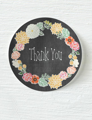 Vintage Thank You Stickers