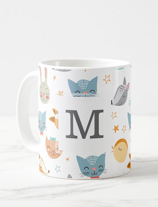 Cute Monogram Mugs - Zazzle