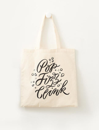 Customisable Tote Bags - Wedding Pop Fizz Clink Tote Bag