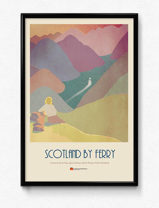 Vintage Travel Posters - Vintage Scotland Railway Poster
