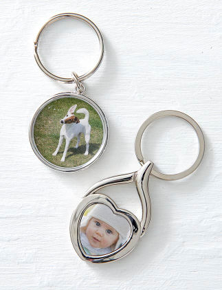 Customisable key rings from Zazzle