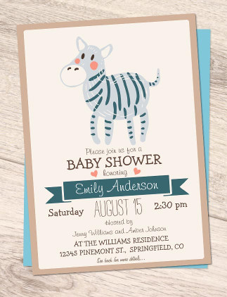 Browse Zazzle's Animal Baby Shower Invitations and customise with your own text, photos or designs.