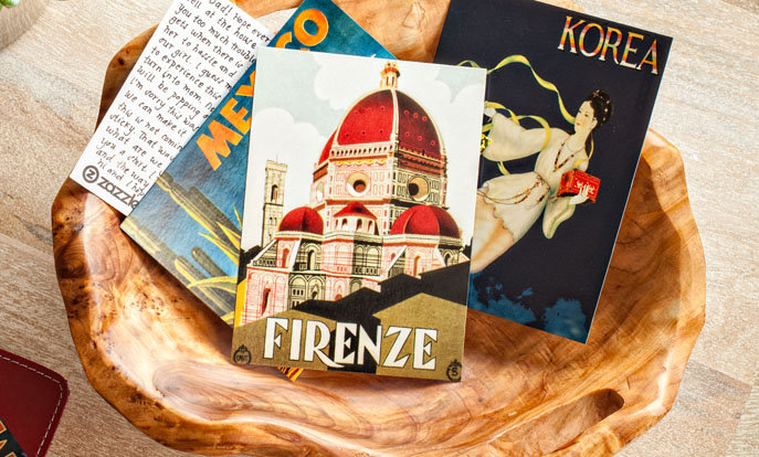 Create your very own Postcards and personalize by color, design, or style.