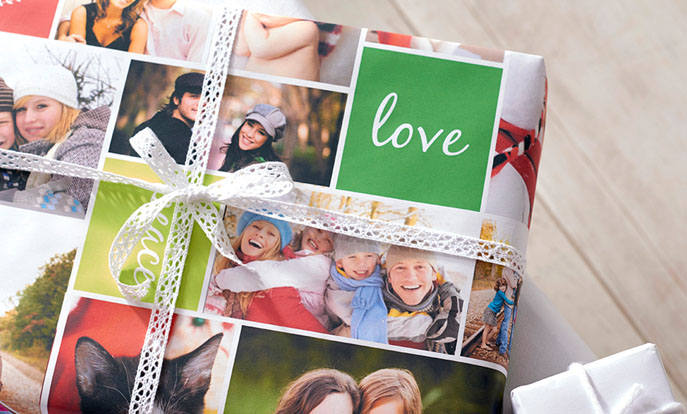 Shop custom wrapping paper and customize them with your own photo, text or design.