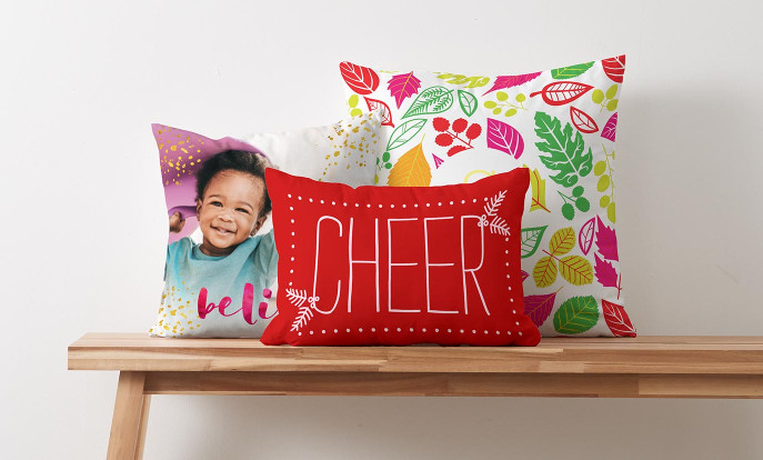 Browse our Home & Pets section to find customisable cushions, blankets, mugs, magnets, and more!