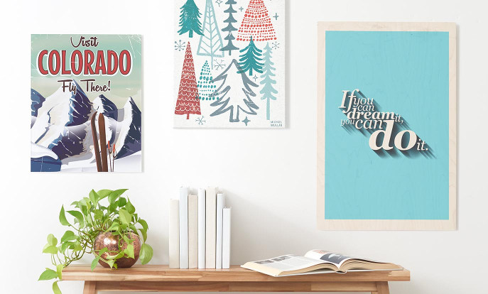 Browse our Art & Posters section to find customizable wood wall art, quote posters, canvas prints, and more!
