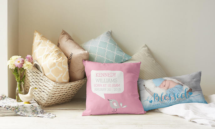 Nursery and baby personalised cushions