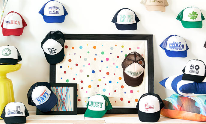 Browse the Hats Collection and personalize by color, design, or style.