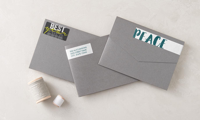 Christmas labels - personalised labels in many shapes and sizes