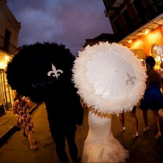 """Bride or Groom """"Treme"""" Wedding Single Parasol"""