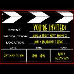 Movie Clapper Board Custom Invitation Zazzle