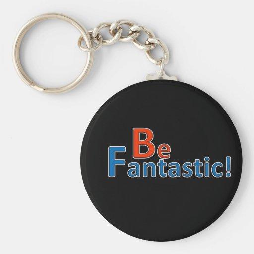Be Fantastic Basic Round Button Key Ring