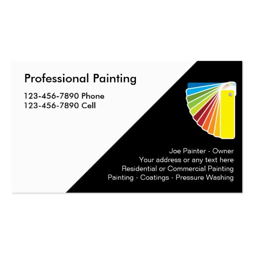 Create your own painter business cards for Professional home design 7 0