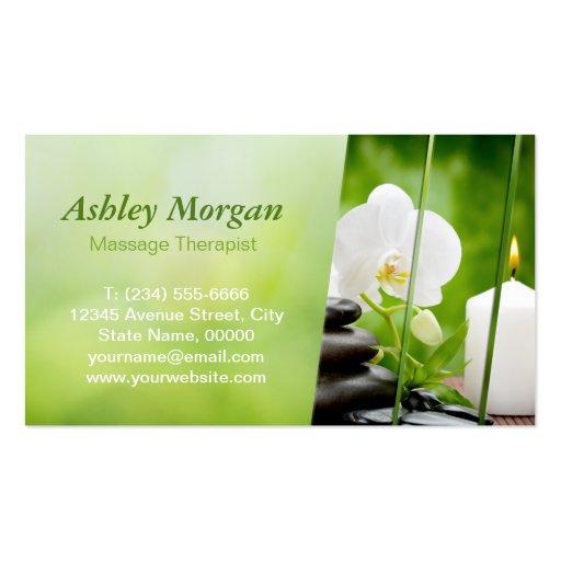 Premium massage business card templates for Massage therapy business card templates