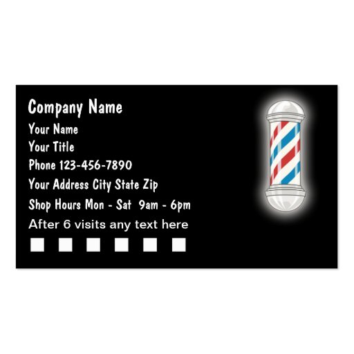 Create your own barber business cards for Barber business card