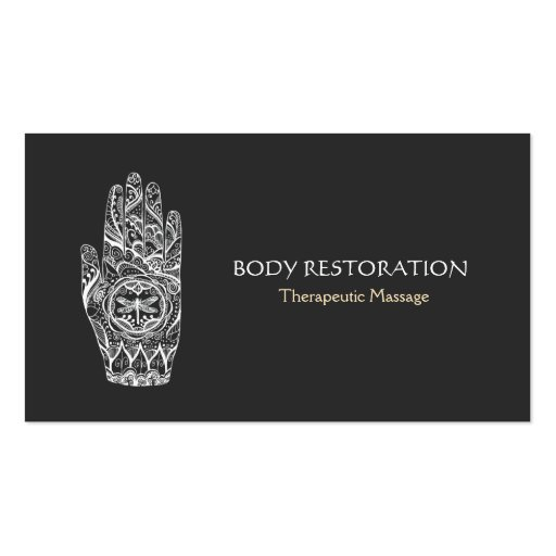 Premium massage business card templates page2 for Business card size tattoos