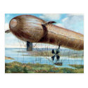 Old Postcard - Motor Driven War Airship