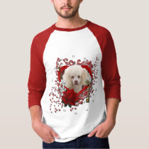 Valentines - Key to My Heart - Poodle - White T-shirts