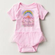 Carousel Baby Tutu Bodysuit, Pink, Personalize Shirt