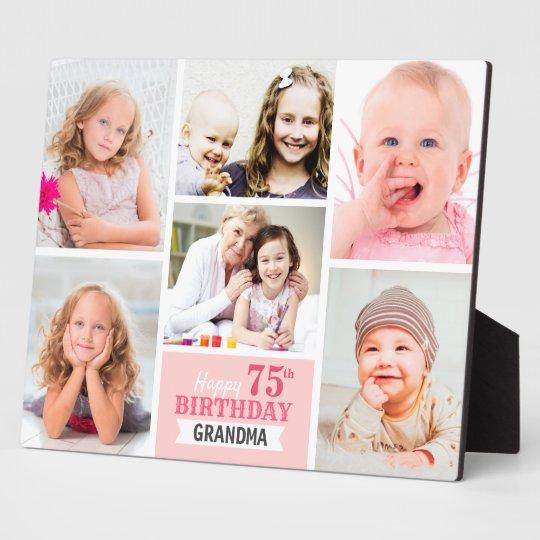 Personalised photo collage plaque