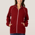 """<p>This best-selling California Fleece track jacket by American Apparel is extra thick for added warmth, yet it's breathable. Stay comfortable while walking, jogging, or hanging out outside with this jacket made of 100% extra soft ringspun combed cotton. Customise to make it your own!</p> <p>Size & Fit<p> <ul> <li> Model is 6'1""""/185 cm and wearing a Large</li> <li> Slim fit</li> <li> Garment is unisex</li> </ul> <p>Fabric & Care</p> <ul> <li> 100% California Fleece cotton construction</li> <li> Raglan sleeves and a kangaroo pocket</li>  <li> Contrast white piping and nylon zip (zips to top of collar)</li> <li> Made in and shipped from the USA</li> <li> Machine wash cold</li> </ul>"""