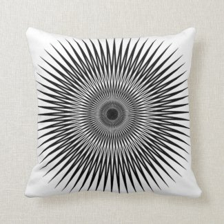 optical illusion throw pillow black_white no2