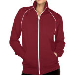 <p>This bestselling California Fleece track jacket by American Apparel is extra thick for added warmth, yet it's breathable. Stay comfortable while walking, jogging or hanging out outside with this jacket made of 100% extra soft ringspun combed cotton. Featuring contrast white piping and zip, you'll look and feel great wearing it. </p>