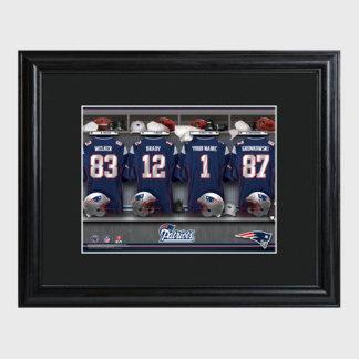 New England Patriots NFL Locker Room Print w/Frame