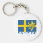 Sverige Flag Keychains