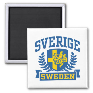 Sverige Square Magnet