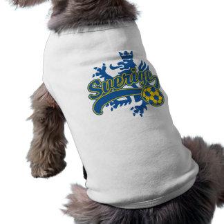 Sverige Soccer Sleeveless Dog Shirt