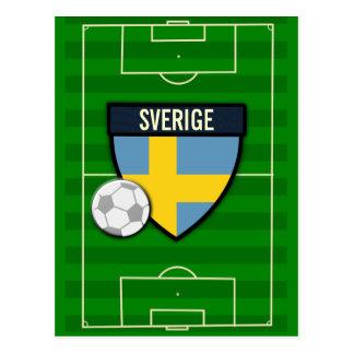 Sverige Sweden Soccer Postcard