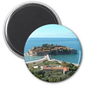 Sveti Stefan 6 Cm Round Magnet