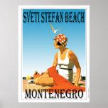 Sveti Stefan beach, Montenegro Poster