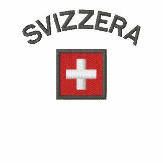 Svizzera Ladies Polo With Switzerland Pocket Flag