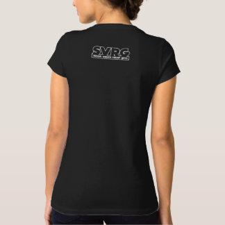 """SVRG """"Lace Up"""" Women's Crew Neck T-shirt - Black"""