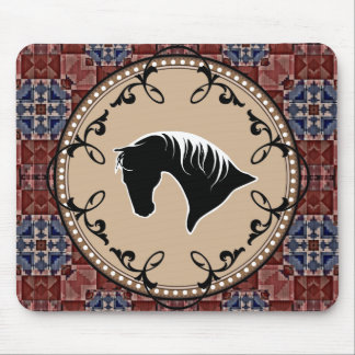 SW Horse Silhouette Filligree Mousepad