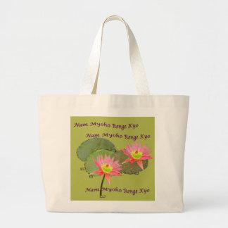 SWAAJ NMRK Two Lotus Jumbo Tote Tote Bag