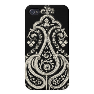 Swaaj Paisley Blk & Wht iPhone Case iPhone 4 Covers