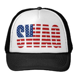 SWAG American Flag Black Mesh Snapback Trucker Hat