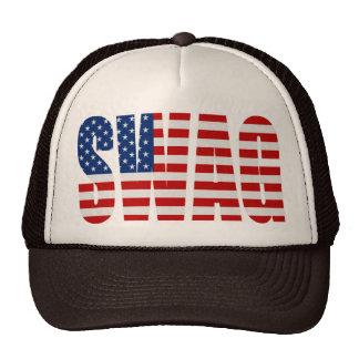 SWAG American Flag Brown Mesh Snapback Trucker Hat