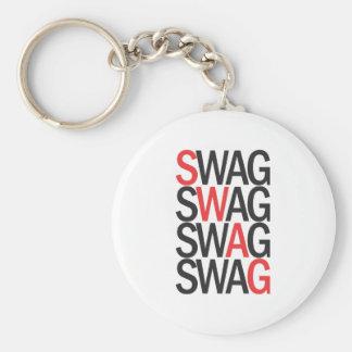 Swag Basic Round Button Key Ring