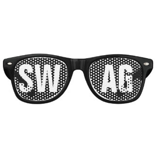 'SWAG' Black and White Party Retro Sunglasses