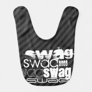 Swag; Black & Dark Gray Stripes Bibs