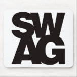 Swag - Black Mouse Pads